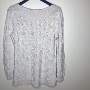 Loft wide neck cable knit sweater